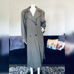 London Fog Gray Classic Trench Coat - Womens